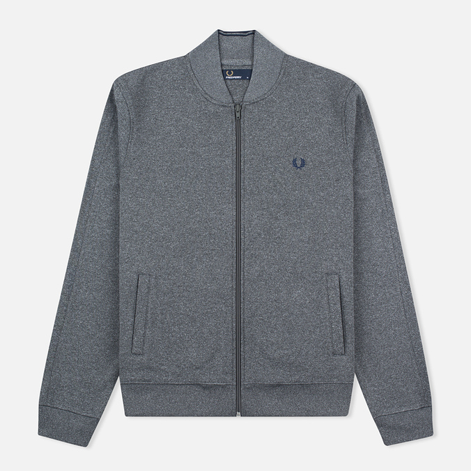 Fred Perry Bomber Neck Men's Track Jacket Steel Marl
