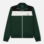 Мужская олимпийка Fred Perry Colour Block Track Ivy фото- 0