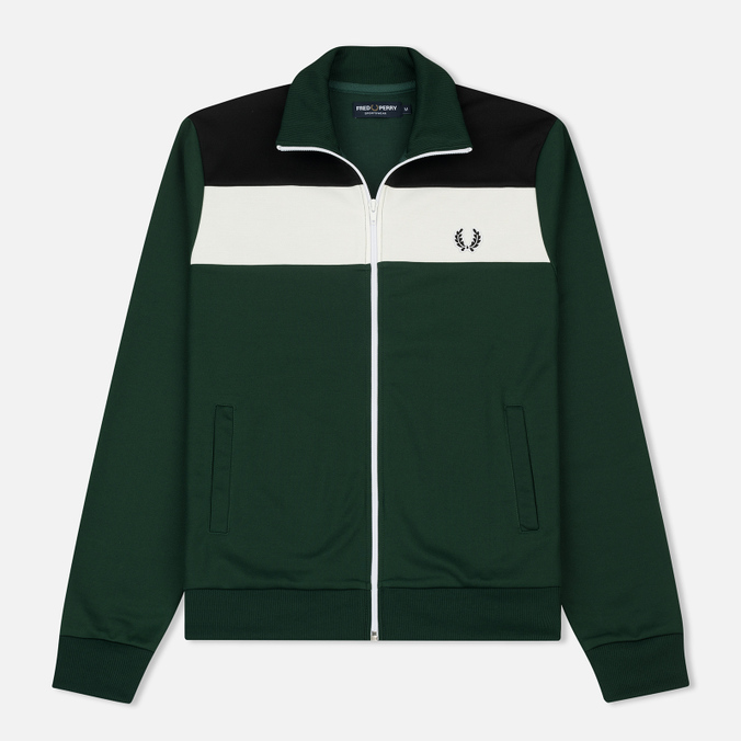 Мужская олимпийка Fred Perry Colour Block Track Ivy