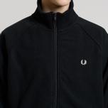 Мужская олимпийка Fred Perry Fleece Full Zip Black фото- 4