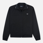 Мужская олимпийка Fred Perry Funnel Neck Track Black фото- 0