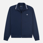 Мужская олимпийка Fred Perry Funnel Neck Track Carbon Blue фото- 0