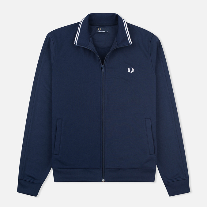 Мужская олимпийка Fred Perry Funnel Neck Track Carbon Blue