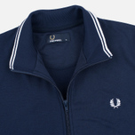 Мужская олимпийка Fred Perry Funnel Neck Track Carbon Blue фото- 1