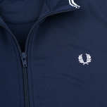 Мужская олимпийка Fred Perry Funnel Neck Track Carbon Blue фото- 2