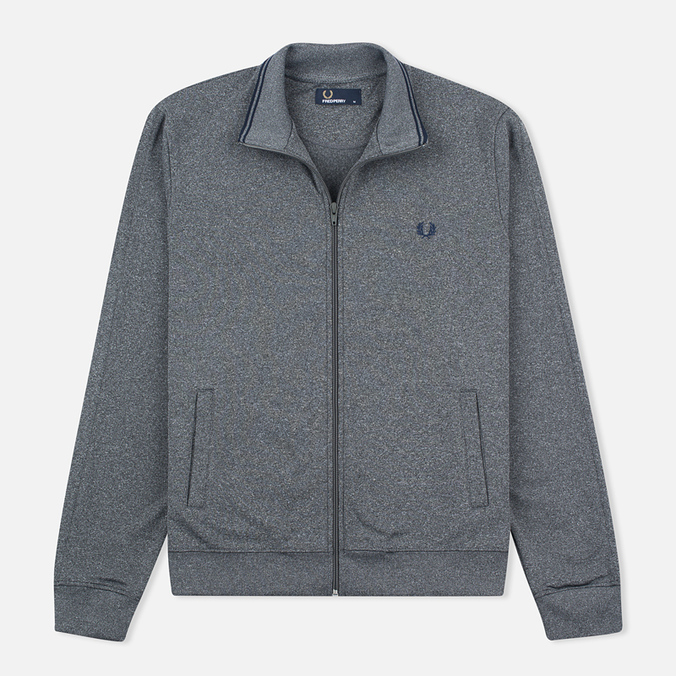 Fred Perry Funnel Neck Track Men's Track Jacket Steel Marl