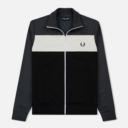 Мужская олимпийка Fred Perry Laurel Sports Authentic Colour Block Charcoal Solid
