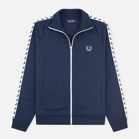 Мужская олимпийка Fred Perry Laurel Wreath Tape Track Carbon Blue