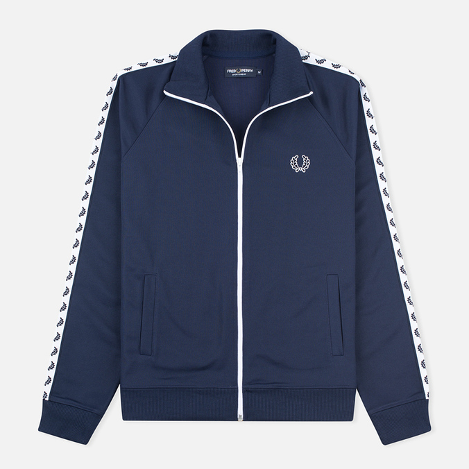 Fred Perry Laurel Wreath Tape Men's Track Jacket Carbon Blue