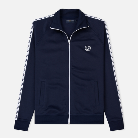 Мужская олимпийка Fred Perry Laurel Wreath Tape Carbon Blue/White