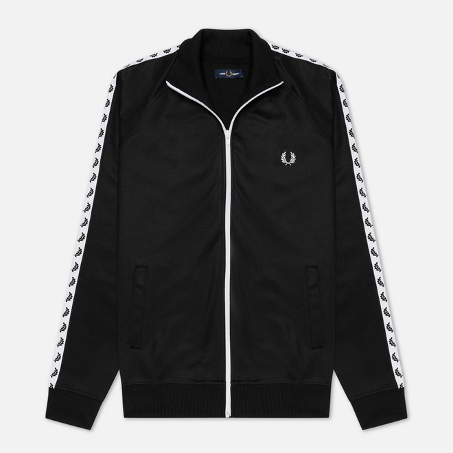 Мужская олимпийка Fred Perry Laurel Wreath Tape Track Black/White