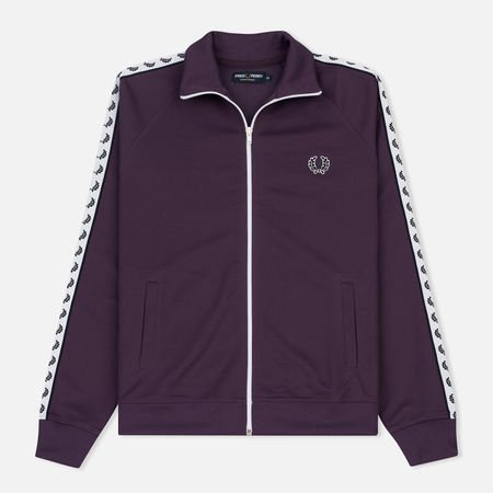 Мужская олимпийка Fred Perry Laurel Wreath Tape Track Blackcurrant