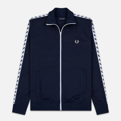 Мужская олимпийка Fred Perry Laurel Wreath Tape Track Carbon Blue/White