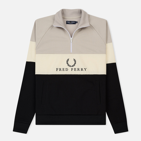 Мужская олимпийка Fred Perry Sports Authentic Embroidered Panel Black