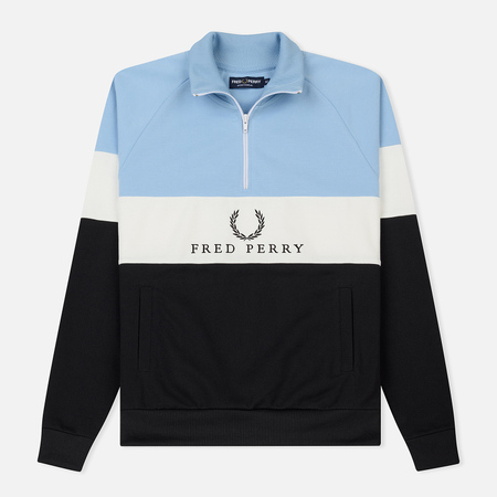 Мужская олимпийка Fred Perry Sports Authentic Embroidered Panel Glacier