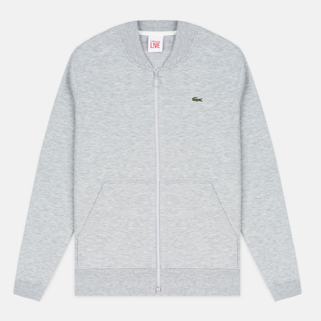 Мужская олимпийка Lacoste Live Zippered Bomber Grey