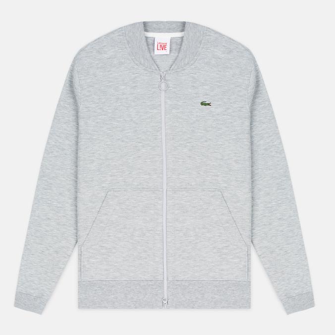 Lacoste Live Zippered Bomber Men's Track Jacket Grey