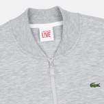 Мужская олимпийка Lacoste Live Zippered Bomber Grey фото- 1