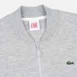 Lacoste Live Zippered Bomber Men's Track Jacket Grey photo- 1