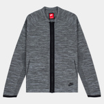 Мужская олимпийка Nike Tech Knit Bomber Dark Grey Heather/Wolf Grey/Anthracite/Black фото- 0