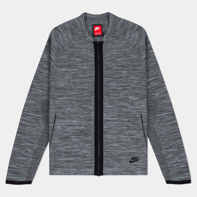 Мужская олимпийка Nike Tech Knit Bomber Dark Grey Heather/Wolf Grey/Anthracite/Black