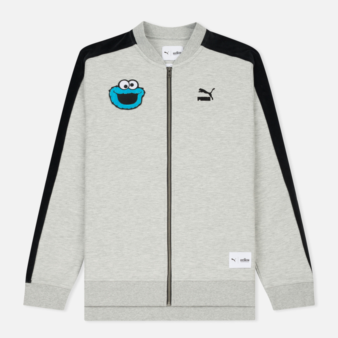 Мужская олимпийка Puma x Sesame Street Bomber Light Grey Heather