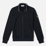 Stone Island Brushed Cotton Fleece Men's Track Jacket Black photo- 0