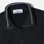 Stone Island Brushed Cotton Fleece Men's Track Jacket Black photo- 2