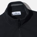 Stone Island Brushed Cotton Fleece Men's Track Jacket Black photo- 1