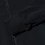 Stone Island Brushed Cotton Fleece Men's Track Jacket Black photo- 4