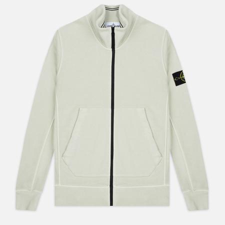 Stone Island Brushed Cotton Fleece Mastic Men's Track Jacket White