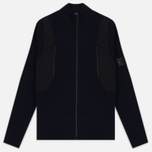 Мужская олимпийка Stone Island Shadow Project Tactical Stretch Wool Intarsia Blue фото- 0