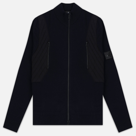 Мужская олимпийка Stone Island Shadow Project Tactical Stretch Wool Intarsia Blue