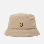 Мужская панама Lyle & Scott Cotton Twill Bucket Dark Sand фото- 0