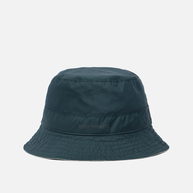 Мужская панама Norse Projects Reversible Poplin Verge Green/Dark Green