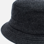 Мужская панама Universal Works Bucket Wool Melton Charcoal фото- 2