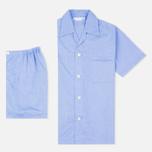 Мужская пижама Derek Rose Amalfi Cotton Batiste Blue фото- 0