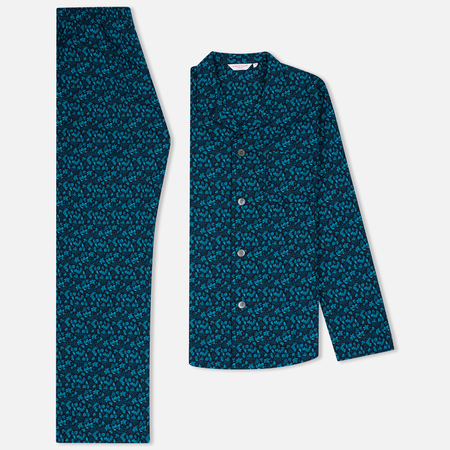 Мужская пижама Derek Rose Damask 8 EW Pyjama Set Teal