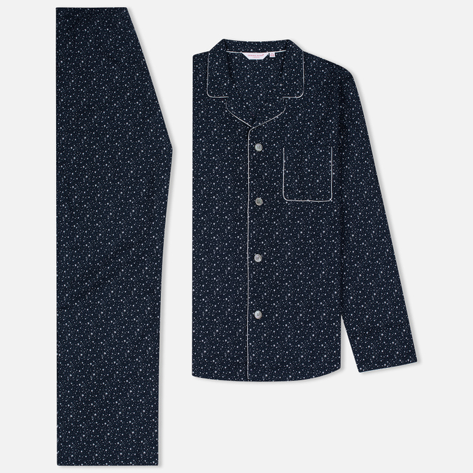 Derek Rose Dixie 4 EW Pyjama Set Navy