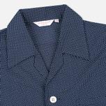 Мужская пижама Derek Rose Plaza 21 Cotton Batiste Polka Dot Navy фото- 3