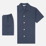 Мужская пижама Derek Rose Plaza 21 Cotton Batiste Polka Dot Navy фото- 0