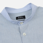 Мужская рубашка A.P.C. Alejandro Blue фото- 1