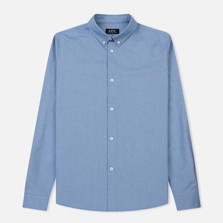 Мужская рубашка A.P.C. Button Down Blue