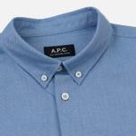 Мужская рубашка A.P.C. Button Down Blue фото- 1