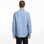 Мужская рубашка A.P.C. Button Down Blue фото- 4