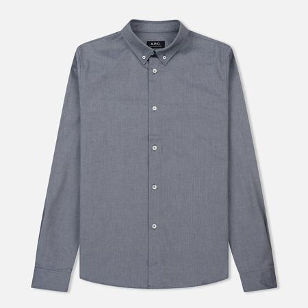 Мужская рубашка A.P.C. Button Down Dark Navy