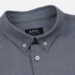 Мужская рубашка A.P.C. Button Down Dark Navy фото- 1