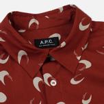 Мужская рубашка A.P.C. Cippi Dark Red фото- 1