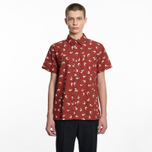 Мужская рубашка A.P.C. Cippi Dark Red фото- 3