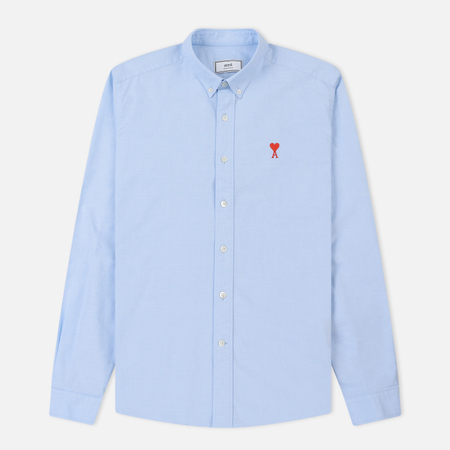 Мужская рубашка AMI AMI De Coeur Button-Down Sky Blue